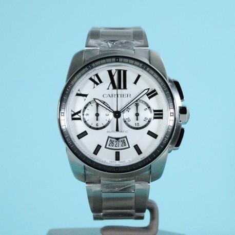 Calibre de Cartier Chronograph Stahlband