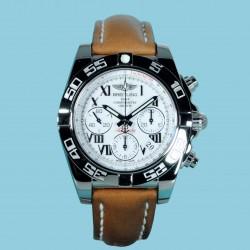 Breitling Chronomat 41 Index weiß Lederband