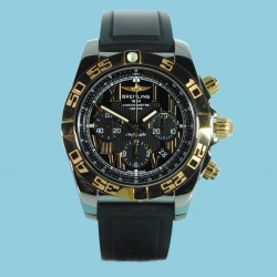 Chronomat 44 Stahl/Rotgold Kautschukband