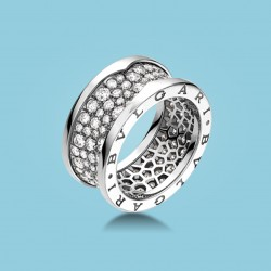 B.zero1 Ring Weißgold und Diamanten.