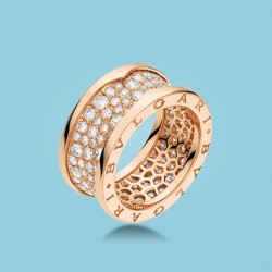 B.zero1 Ring Roségold und Diamanten.