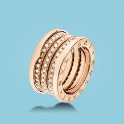 B.zero1 4-Band-Ring Roségold und Diamanten.