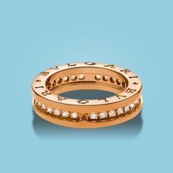 B.zero1 1-Band-Ring Roségold und Diamanten