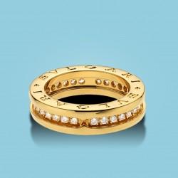 B.zero1 1-Band Gelbgold-Ring mit Diamanten