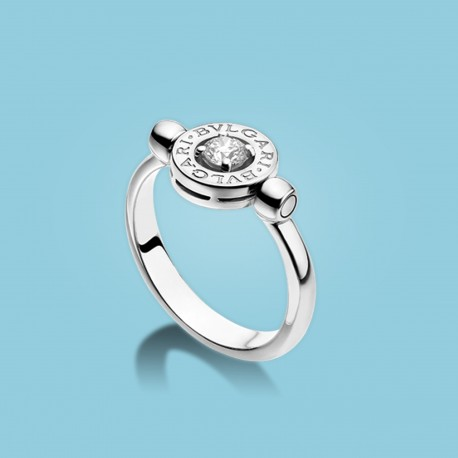 BVLGARI BVLGARI Flip Ring 18 kt Weißgold mit Diamant