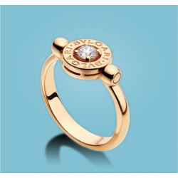 BVLGARI BVLGARI Flip Ring 18 kt Roségold mit Diamant