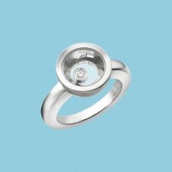 Very Chopard Ring 18 kt Weißgold mit beweglichem diamanten
