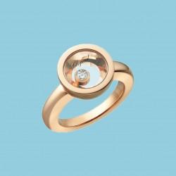 Very Chopard Ring 18 kt Roségold mit beweglichem diamanten