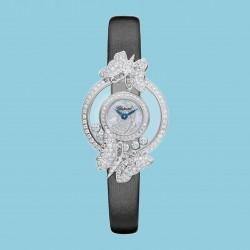 Chopard Happy Diamonds Icons Quarz Weißgold Stoff schwarz