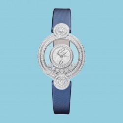 Chopard Happy Diamonds Icons Quarz Weißgold blau techno-Satin