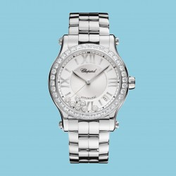 Chopard Happy Sport 36mm Automatik Edelstahl Diamanten
