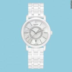 Rado DiaMaster Diamonds 33mm Keramik weiß