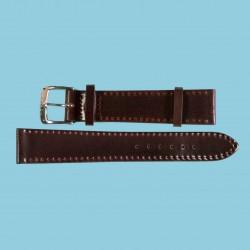 Nomos Shell Cordovan Lederband braun mit roter Naht, Größe M, 18mm