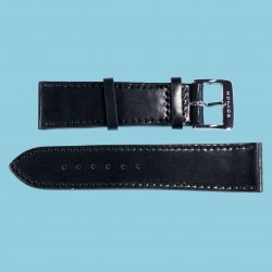 Nomos Shell Cordovan Leather strap black, Size S, 20mm