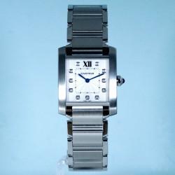 Cartier TANK FRANÇAISE Mittleres Modell Stahl
