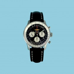 Navitimer 01 Index black leather