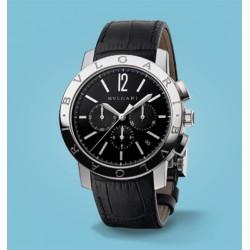 Bulgari Velocissimo Chronograph 41 mm Leder schwarz