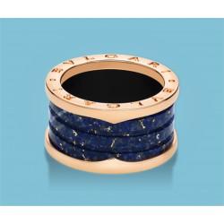 B.zero1 4-Band-Ring Roségold und blauer Marmor
