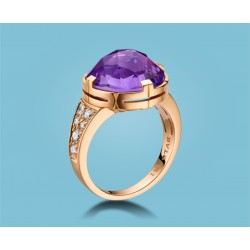 Parentesi Cocktail Ring Roségold Amethyst