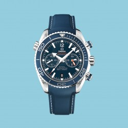 Planet Ocean 600 M Chronograph Titan 45.5 MM Blue Rubber