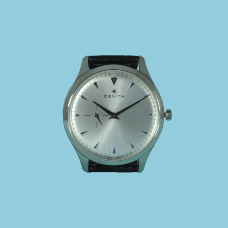 Heritage Ultra Thin 40 mm Stahl silber Index Kroko