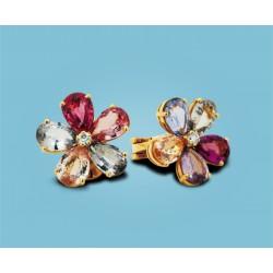 Sapphire Flower Gelbgold mit Saphiren, Peridoten und Diamanten